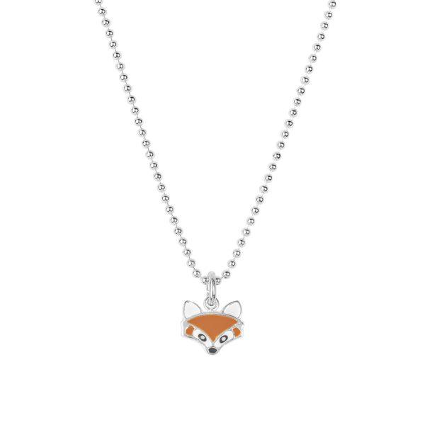 FUCHSKARSPITZE – emallierter Fuchsanhänger mit Kette