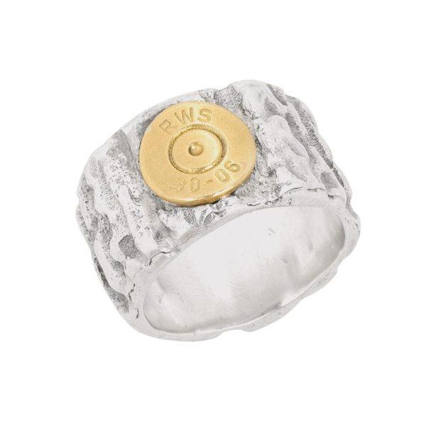 ALPSPITZE – Hirschhornring gegossen mit Patronenboden in Gold