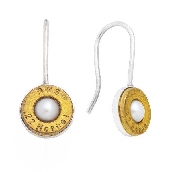 BERGGÄCHTLE – Patronenbodenohrhänger mit Perle