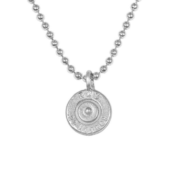 REHKÖPPFL – Patronenbodenanhänger in Silber