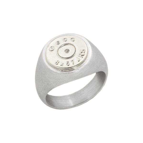 STAUFEN – Ring mit Patronenboden in Edelmetall