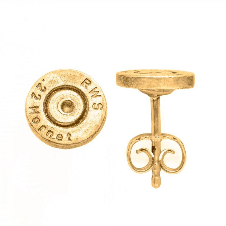 Patronenboden-Ohrringe in Gelbgold – Jagdschmuck von Pia Laflör